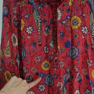 Spell & The Gypsy Collective Tops - Spell & The Gypsy Rose Lovebird Blouse XS
